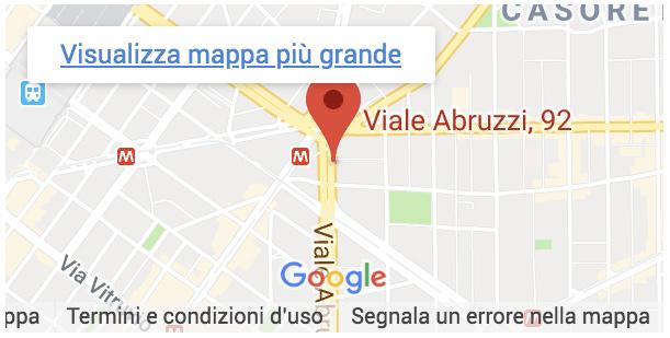 Mappa Google per La Casa della Chiave, chiavi codificate a Milano